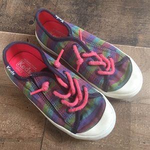 Kids Keds Kickstart Coe Tap Jr Striped Laces 10